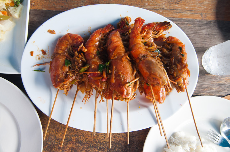 King prawn for lunch
