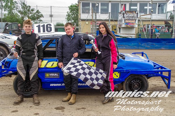 Junior Micra Stock Cars, Hednesford 30 August 2021