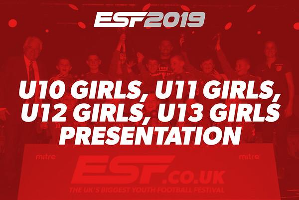U10 GIRLS, U11 GIRLS, U12 GIRLS, U13 GIRLS PRESENTATION