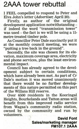 27/4/07 Letter to Editor