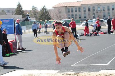 Long Jump - 2014 OU vs UDM Dual Track Meet
