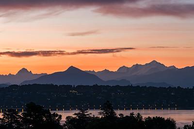 Sunrise from Route de Pregny