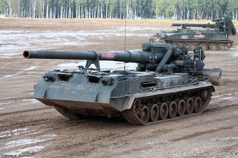 Самоходная пушка 2С7М Малка (2S7M Malka self-propelled gun)