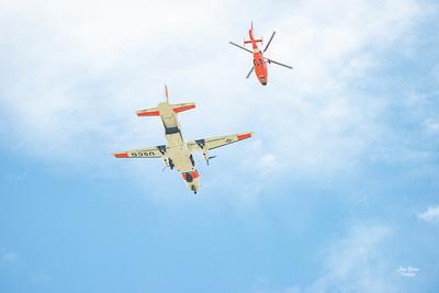 Hyundai Air & Sea Show Salute Flight US Air Force and US Coast Guard Aircrafts