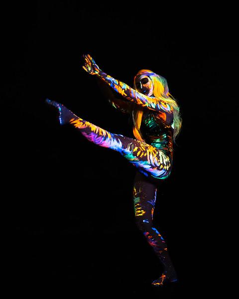 Morgan Porter - UV dance photoshoot