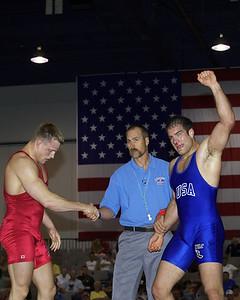Greco-Roman Championships 96 Kg Justin Ruiz (NYAC) def. Adam Wheeler (Gator WC) edit