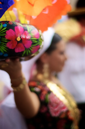 "Traditional ""La Sandunga"" Dancer - La Guelaguetza - Oaxaca, Mexico"