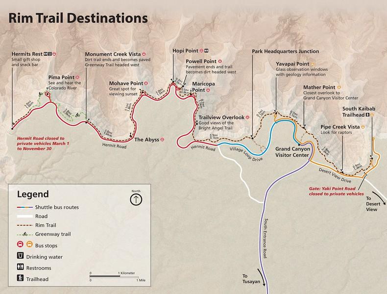 Grand Canyon National Park (Rim Trail)