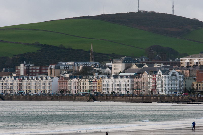 View of the skyline near the coastline in Isle of Man