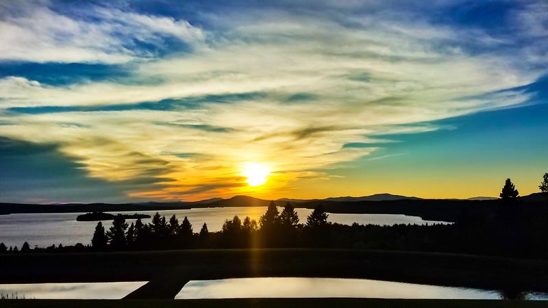 Sunset on Rangeley Lake