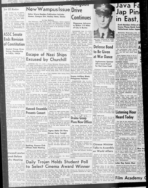 Daily Trojan, Vol. 33, No. 74, December 30, 1941