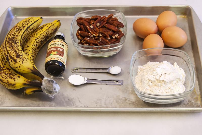 Ingredients for Making Banana Pecan Pancakes