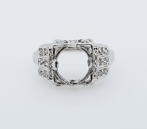 Vintage Platinum Art Deco Era Setting