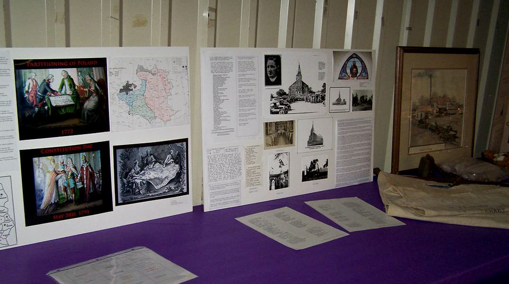 Display of the Church History of St. Stanislaus in Anderson and The Three Partitions of Poland