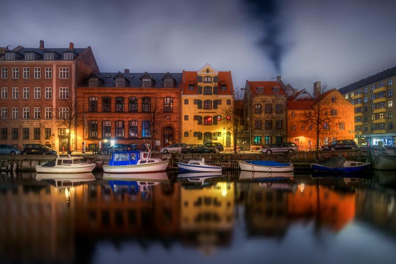 Smoke above Christianshavn Canal