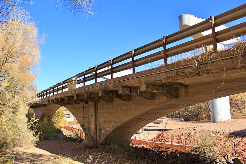 Underneath the historic Gila River bridge (2018)