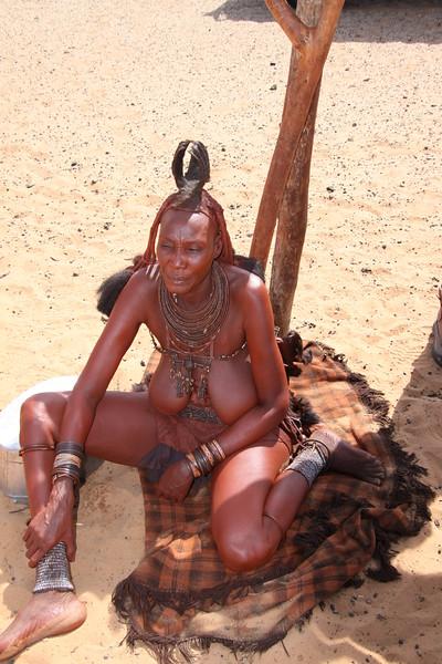 Himba headman's wife