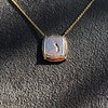 'Joys I Double, Sorrows I Divide' 18kt Rose Gold Cast Pendant, by Seal & Scribe 5