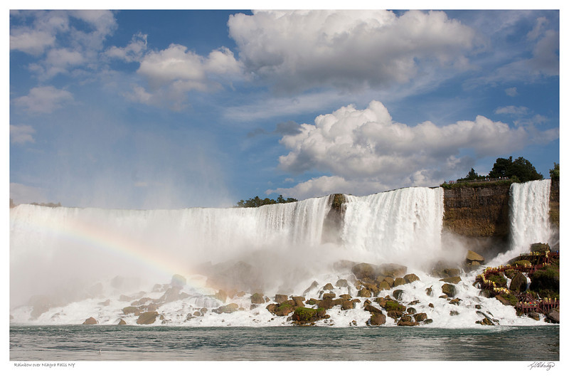 Rainbow over American side of Niagra Falls