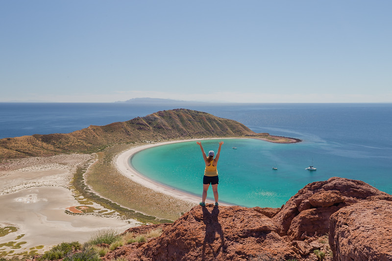 Lina Stock of Divergent Travelers Adventure Travel blog on Isla San Francisco in Baja