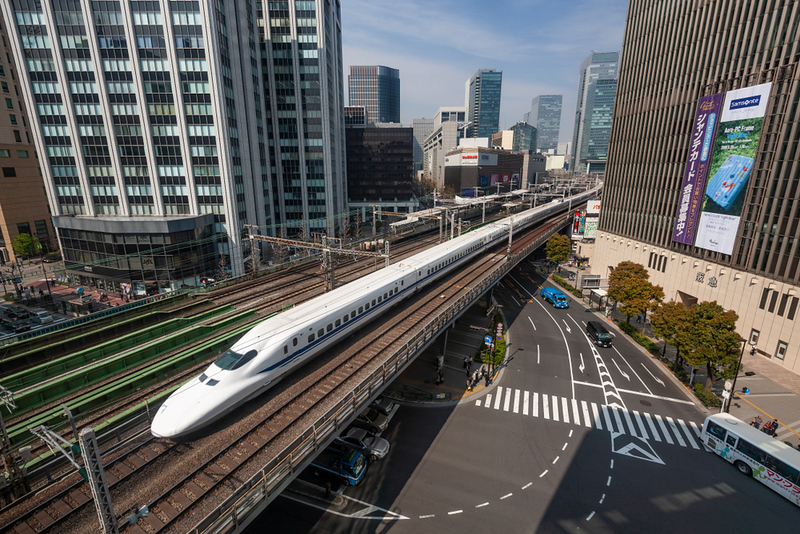 High-speed train Shinkansen. Editorial credit: Michael von Aichberger / Shutterstock.com