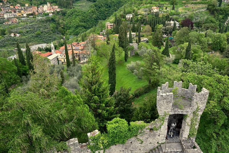 View from the 11th century Castello di Vezio atop Varenna