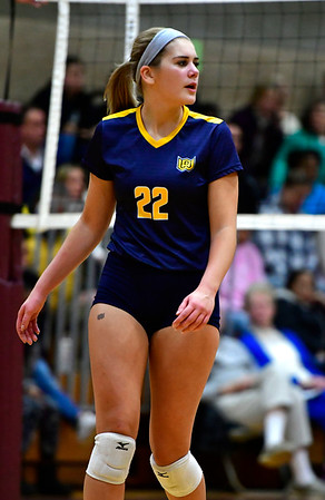 11/14/2018 Mike Orazzi   Staff Woodstock Academy's Natalie Low (22) during the Class L Semifinal State Girls Volleyball Tournament held at Windsor High School Wednesday night.