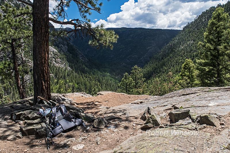 Purgatory Flats trail down to the Animas River