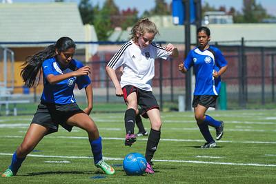 Emma & Isabel Play Soccer