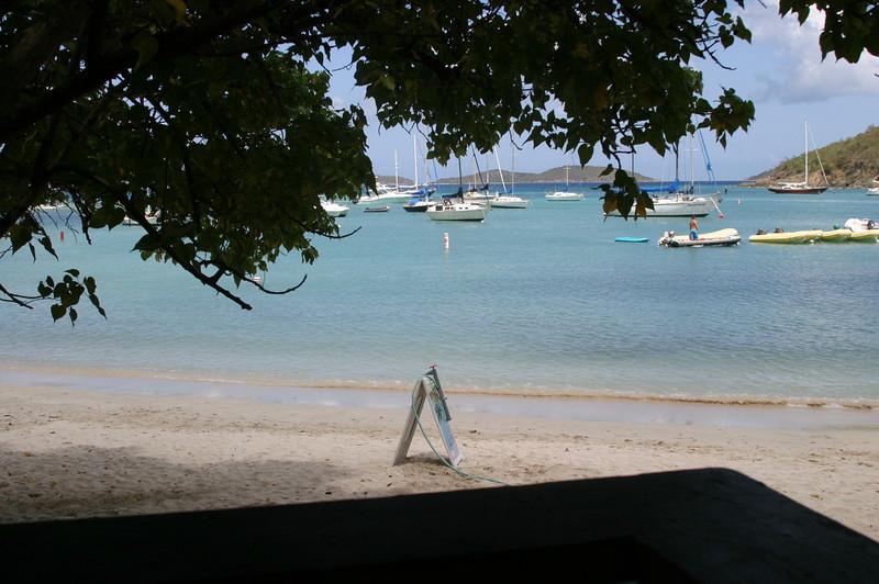 We had lunch overlooking the Cruz Bay.