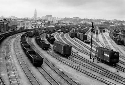 Southern Pacific railroad yard [graphic]