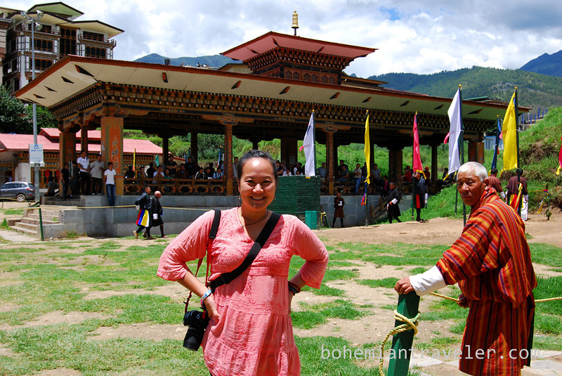 juno at archery tournament Bhutan.jpg