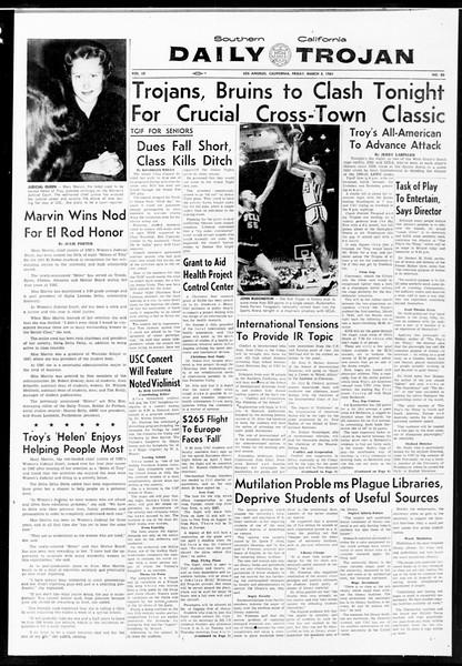 Daily Trojan, Vol. 52, No. 83, March 03, 1961