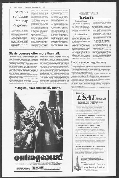 Daily Trojan, Vol. 72, No. 4, September 22, 1977