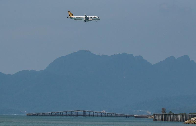 Tigerair A320-232 9V-TRL as TR476 approaching Langkawi LGK WMKL.