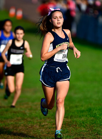 10/16/2018 Mike Orazzi | Staff Newington High School's Samantha Gorski during the CCC Conference Cross Country Championships in Manchester's Wickham Park Tuesday.
