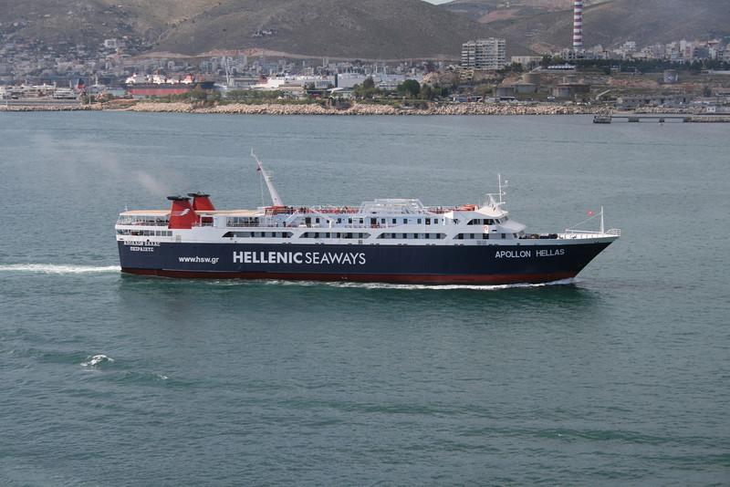 2008 - Route from Egina to Piraeus.