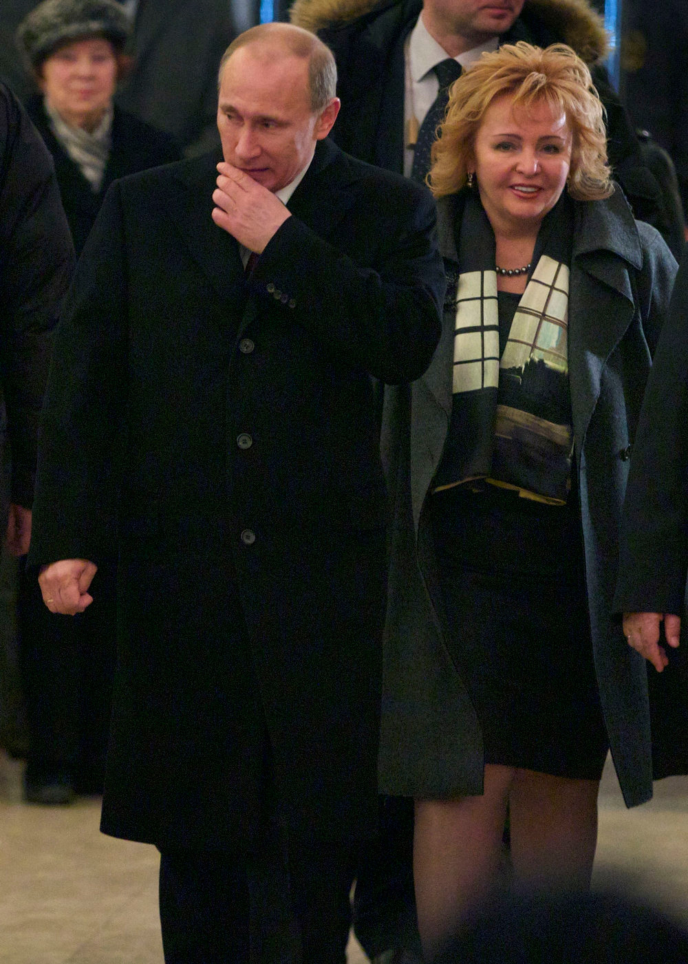 . Then Russian Prime Minister and presidential candidate Vladimir Putin and his wife Lyudmila arrive at a polling station in Moscow, Russia March 4, 2012. Russian President Vladimir Putin and his wife Lyudmila have announced they are divorcing. Married just a few weeks short of 30 years, the Putins announced the decision on state television after attending a ballet performance Thursday evening in the Kremlin.(AP Photo/Ivan Sekretarev, file)