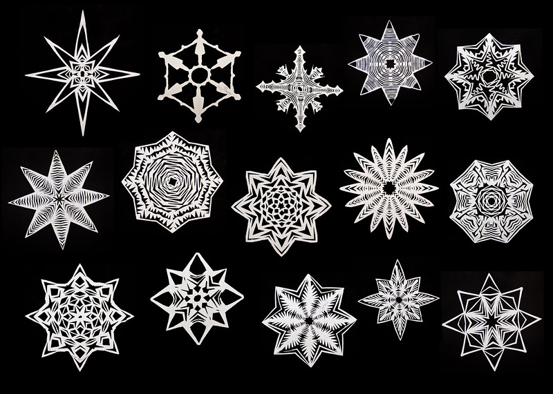 Snowflakes by 5th Graders   Parkrose, Oregon