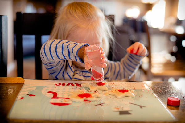Christmas 2014 - cookie making with girls