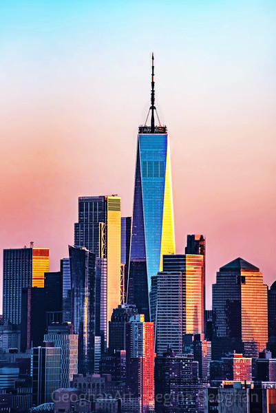 Freedom Tower in Sunset Colors