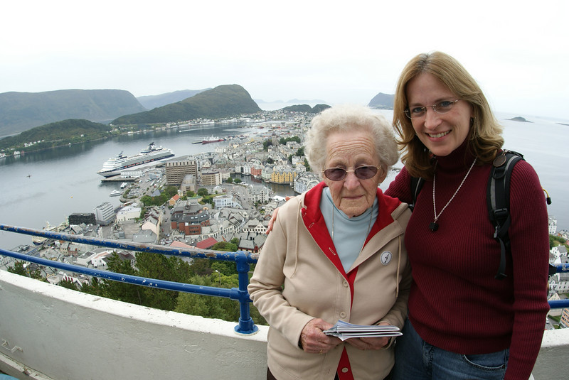 Our tour ended on a hill overlooking Alesund and the surrounding harbors.  Spectacular view.