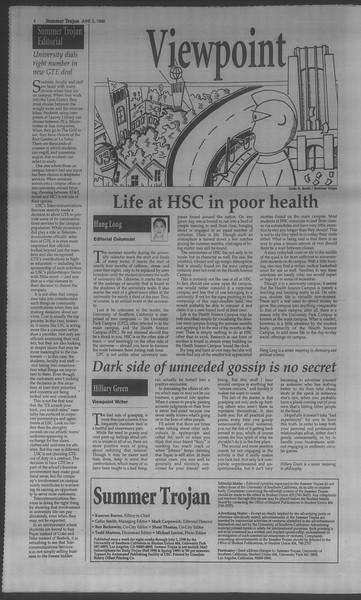 Summer Trojan, Vol. 134, No. 4, June 03, 1998