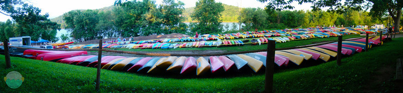 The Fleet Awaits<br /> All the paddle boats awaiting for launch at Paddlefest 2011.