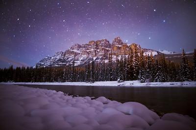 """Frigid Fortress"" II  Castle Mountain, Banff National Park."