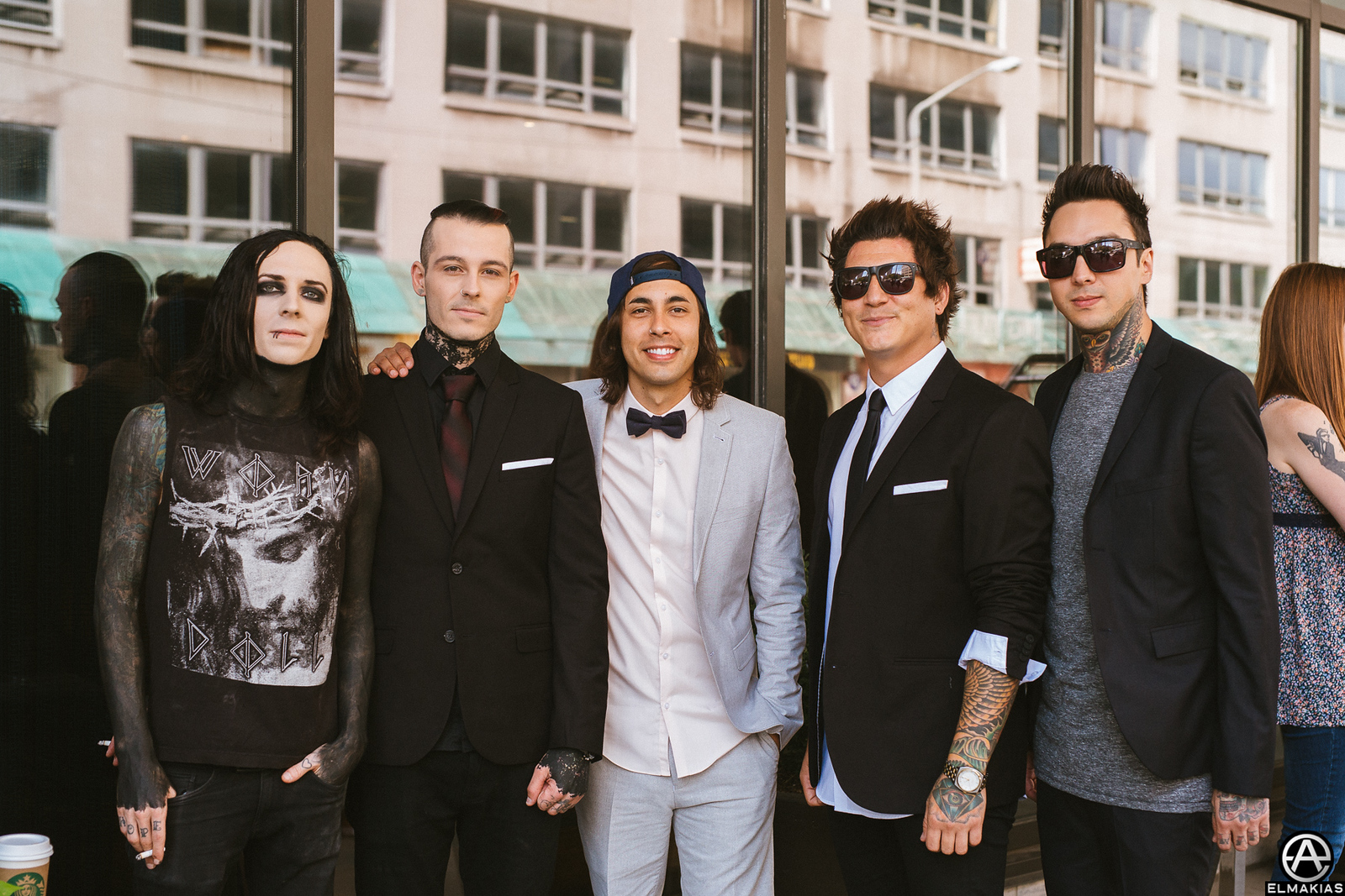 Motionless In White and Pierce The Veil at the APMAs 2015 by Adam Elmakias