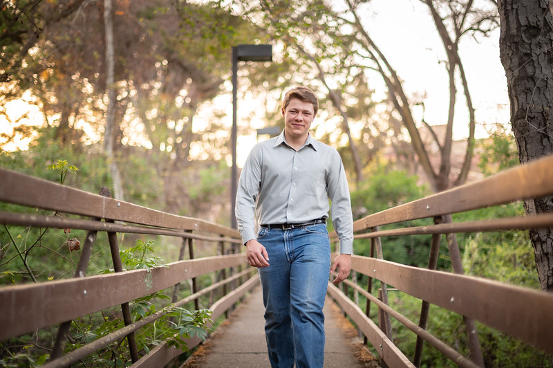 Cole Korte, a senior at Chico High School, takes senior photos on Sunday, March 28, 2021 in Chico, Calif. (Jason Halley/Photographer/Chico, CA)