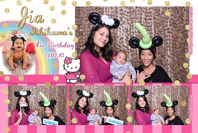 Jia's 1st Birthday (Mini Open Air Photo Booth)