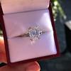 3.76ctw Emerald Cut Diamond Ring, by Leon Mege GIA H VS 9
