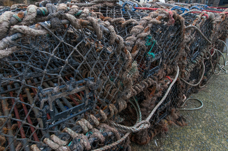 Fish traps in the port of Wales, England